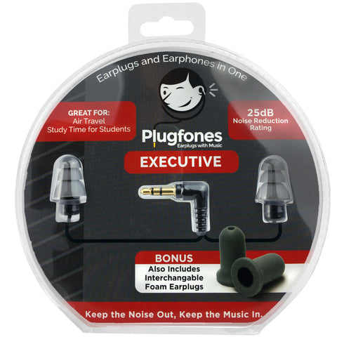 PlugFones Executive - New Earphones That Work Like Earplugs 3.5mm Jack