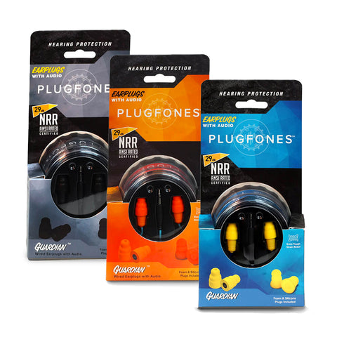 Plugfones Guardian Series Earphones That Work Like Earplugs 3.5mm Jack