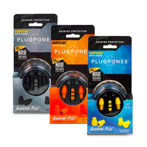 Plugfones Guardian PLUS Series Earphones That Work Like Earplugs 3.5mm Jack