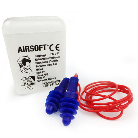 Howard Leight - Airsoft Corded Reusable EarPlug - Box of 50 Pairs