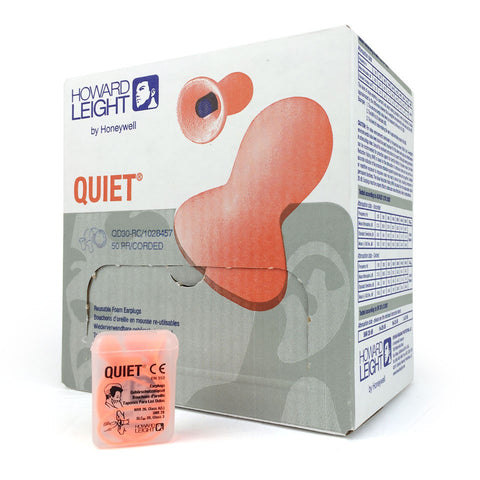 Howard Leight - Quiet Corded Reusable EarPlug - Box of 50 Pairs