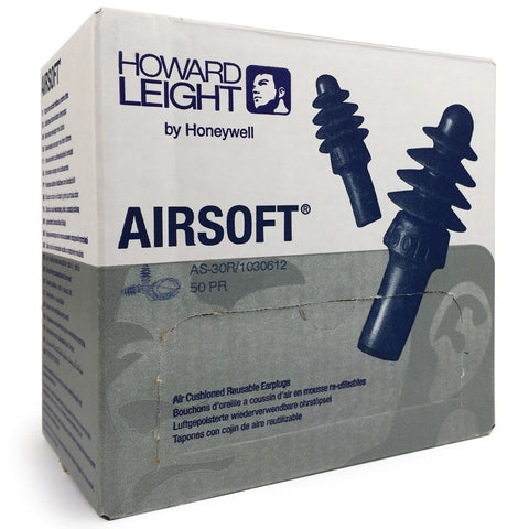 Howard Leight - Airsoft Uncorded Reusable EarPlug - Box of 50 Pairs