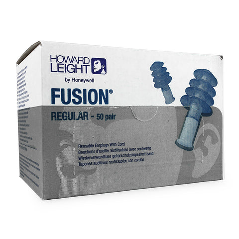Howard Leight - Fusion Ear Plugs Box of 50 Pairs - Regular