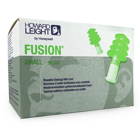 Howard Leight - Fusion Ear Plugs Box of 50 Pairs - Small