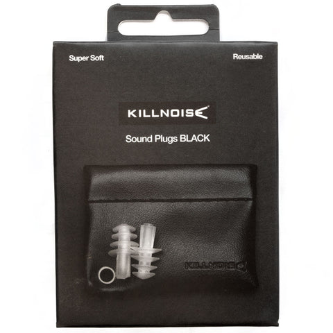 Killnoise Sound Earplugs - 1 Pair - Black