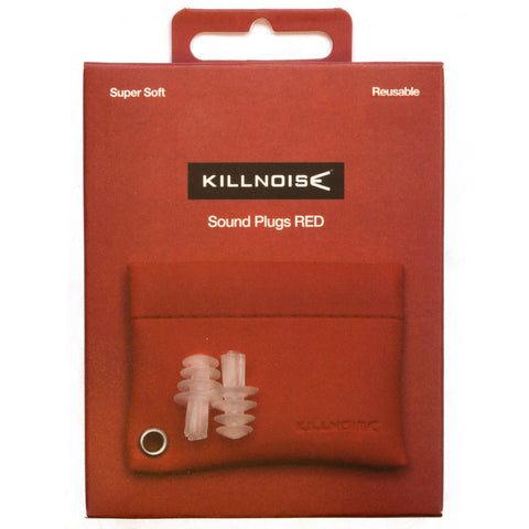 Killnoise Sound Earplugs - 1 Pair - Red
