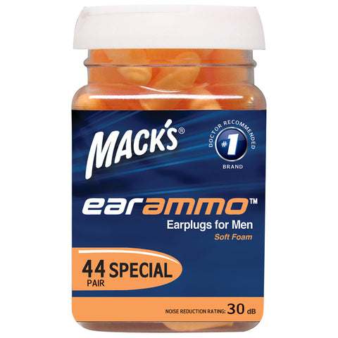 Mack's Ear Ammo Earplugs For Men - 44 Pair Jar