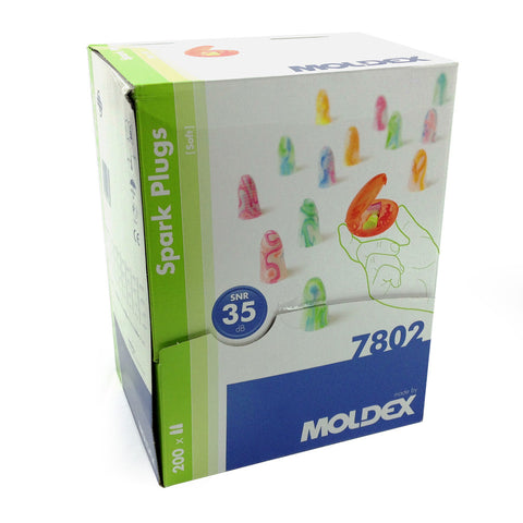 Moldex 7802 Spark Plugs Pocket Pack - Box of 200 Pairs