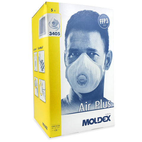 Moldex 3405 FFP3 Face Mask for Dust, Mist & Fumes