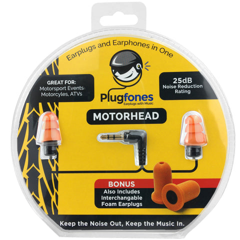 PlugFones Motorhead - New Earphones That Work Like Earplugs 3.5mm Jack