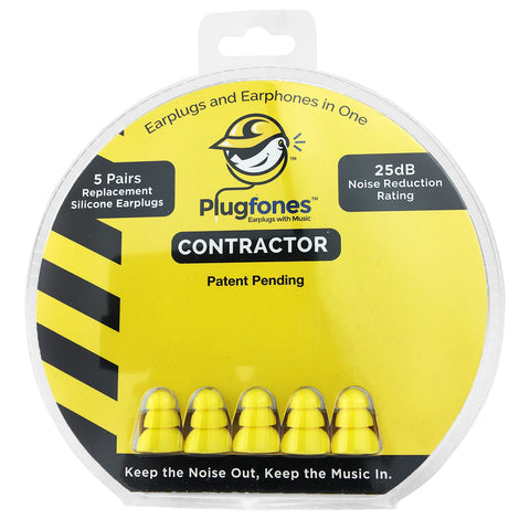Plugfones Replacement Foam & Silcone Tips - Contractor