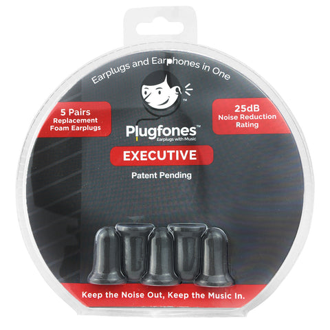 Plugfones Replacement Foam & Silcone Tips - Executive