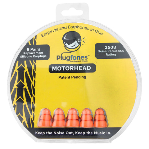 Plugfones Replacement Foam & Silcone Tips - Motorhead