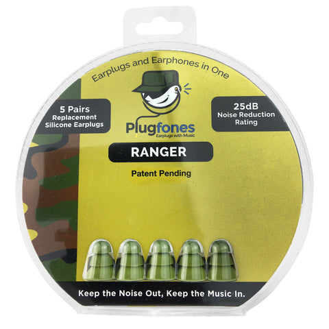 Plugfones Replacement Foam & Silcone Tips - Ranger