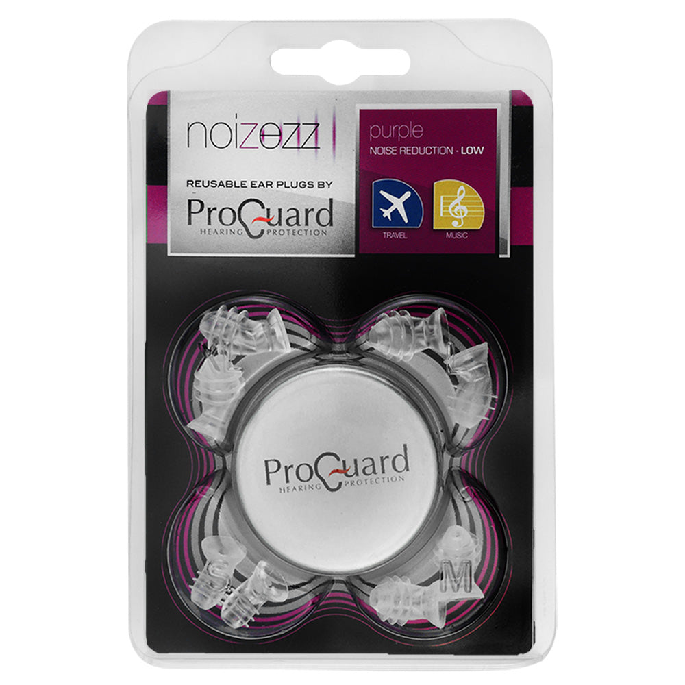 Hearing Aids Are Music To The Ears Of This Concert Violinist: ProGuard Noizezz Universal Earplugs SNR 15 DB (Purple