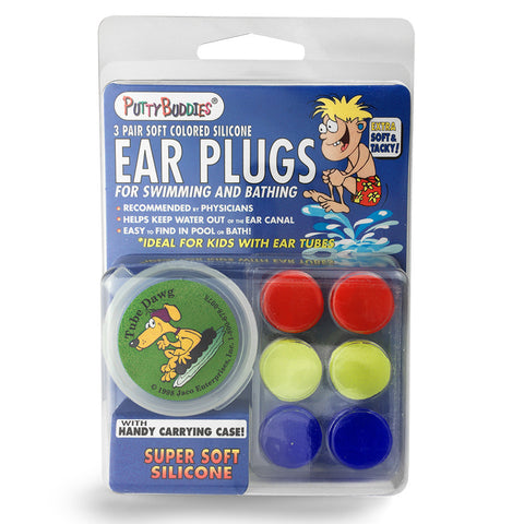 Putty Buddies - Original Silicone Ear Plugs - 3 Pack