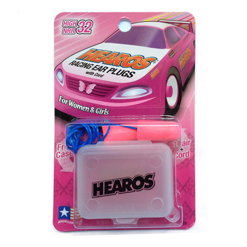Hearos Racing Earplugs With Lanyard - Pink