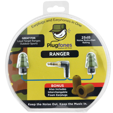 PlugFones Ranger - New Earphones That Work Like Earplugs 3.5mm Jack