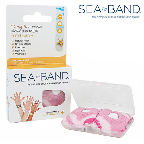 Sea Bands Acupressure Wrist Bands - Child Pink (1 Pair)