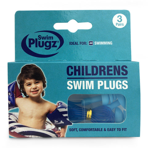 Swim Plugz Silicone Ear Plugs for Kids - 3 Pairs