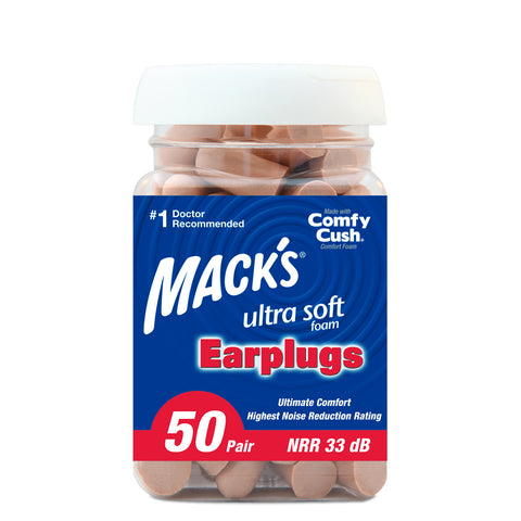 Macks Ultra Safe Sound Soft Foam Earplugs - 50 Pair Jar