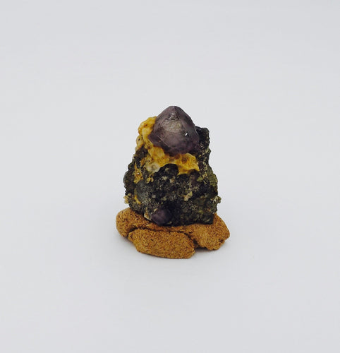 Fluorite with Arsenopyrite*