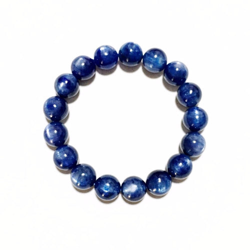 Kyanite Cat's Eye Beads  *  蓝晶猫眼石手链