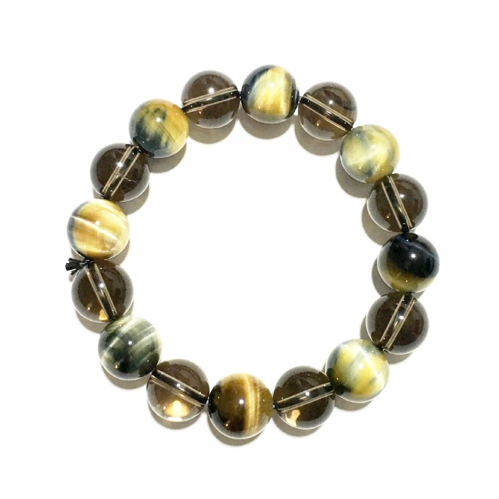 Tiger Eye and Smoky Quartz Beads   *  虎眼石和烟熏石英手链