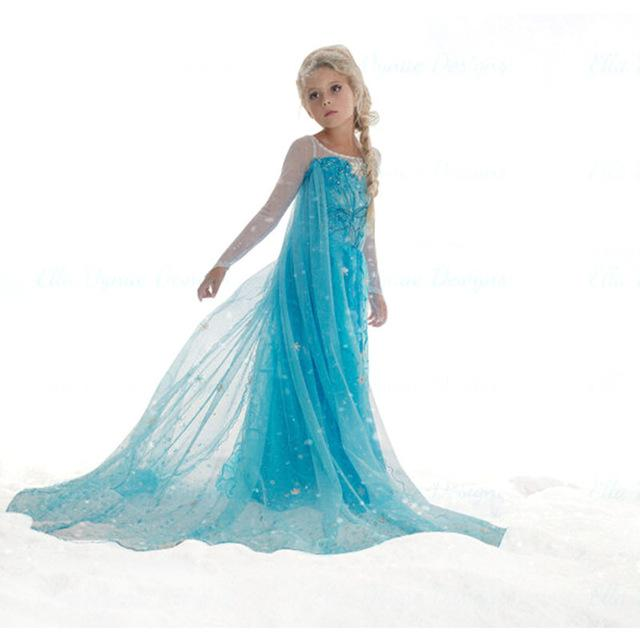 Kids Party Cosplay Costume : Elsa Anna Girl for 3-10 years Princess ...
