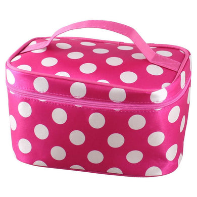 Pink White Dots Cosmetic makeup Organizer