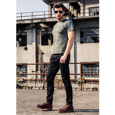 Men Long Slim Denim Jeans.