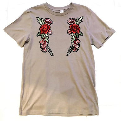 BEACH ROSE TSHIRT (TAN)