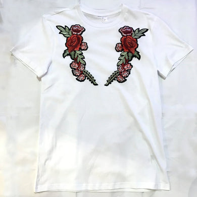BEACH ROSE T-SHIRT (WHITE)