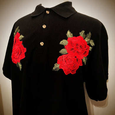 DOUBLE ROSE POLO (BLACK)