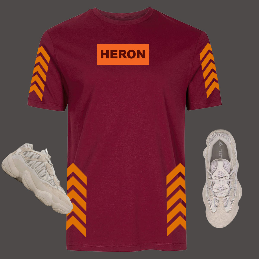 Direction Tshirt (Burgundy)