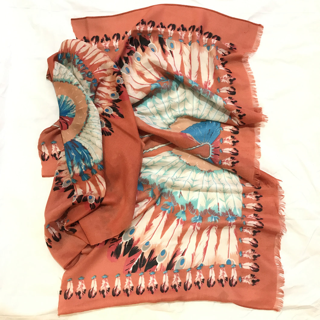 Indian head scarf (peach tan)