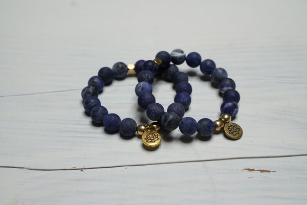 Sodalite - Healing Stone and Energy Bracelet/ Calming