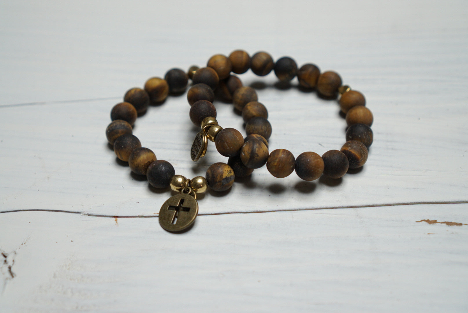 Matte Tiger Eye - Healing Bracelet/ Yoga/Jewelry/Stones/Capricorn/Protection/Good Luck