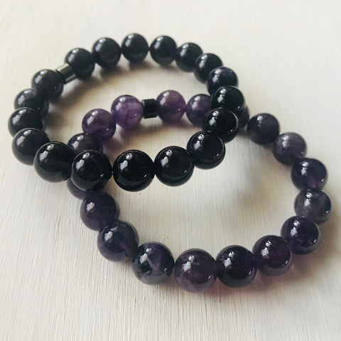 Amethyst - Healing Stone and Energy Bracelet / Protective