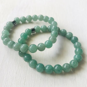 Aventurine - Healing Stone and Energy Bracelet / Leadership / Prosperity