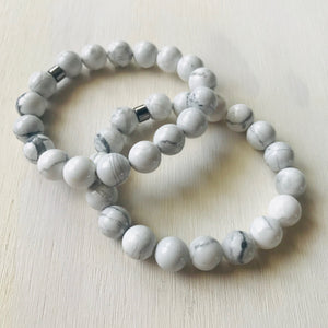 Howlite - Healing Bracelet/Yoga Jewelry/Anxiety/Insomnia/Energy