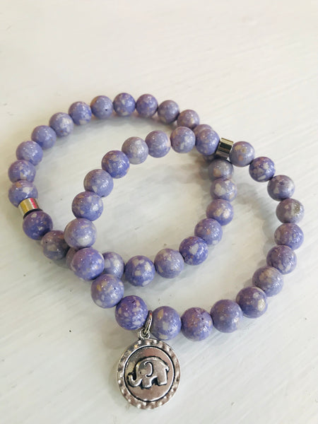 Purple Riverstone Jasper