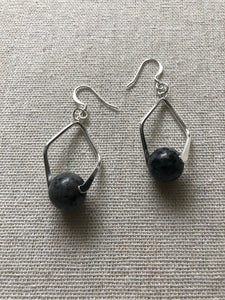 Labradorite 10mm Ball Earrings