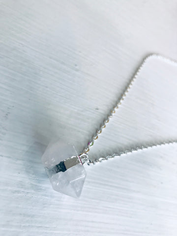 Quartz Balance Pendant Necklace