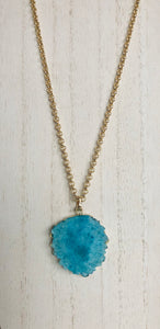 Druzy Agate Necklace