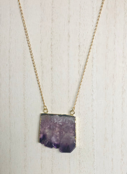 Rough Amethyst Necklace
