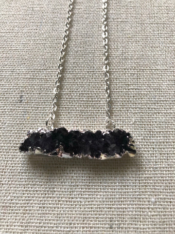 Druzy Agate Bar Necklace