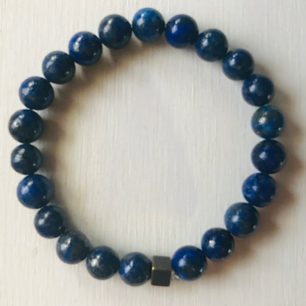 Lapis Lazuli - Healing Stone and Energy Bracelet/ Protection/ Stress Release