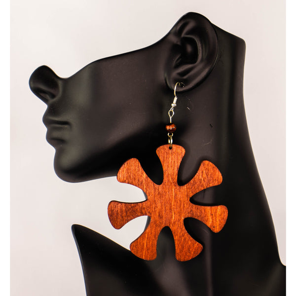 ANANSE NTONTAN/ Adinkra symbol/ Afrocentric/Affirmation/Bohemian/Cultural Conscious/Afro-Punk/West Africa Wood Earrings
