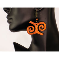 KWATAKYE ATIKO Adinkra Afrocentric Earrings